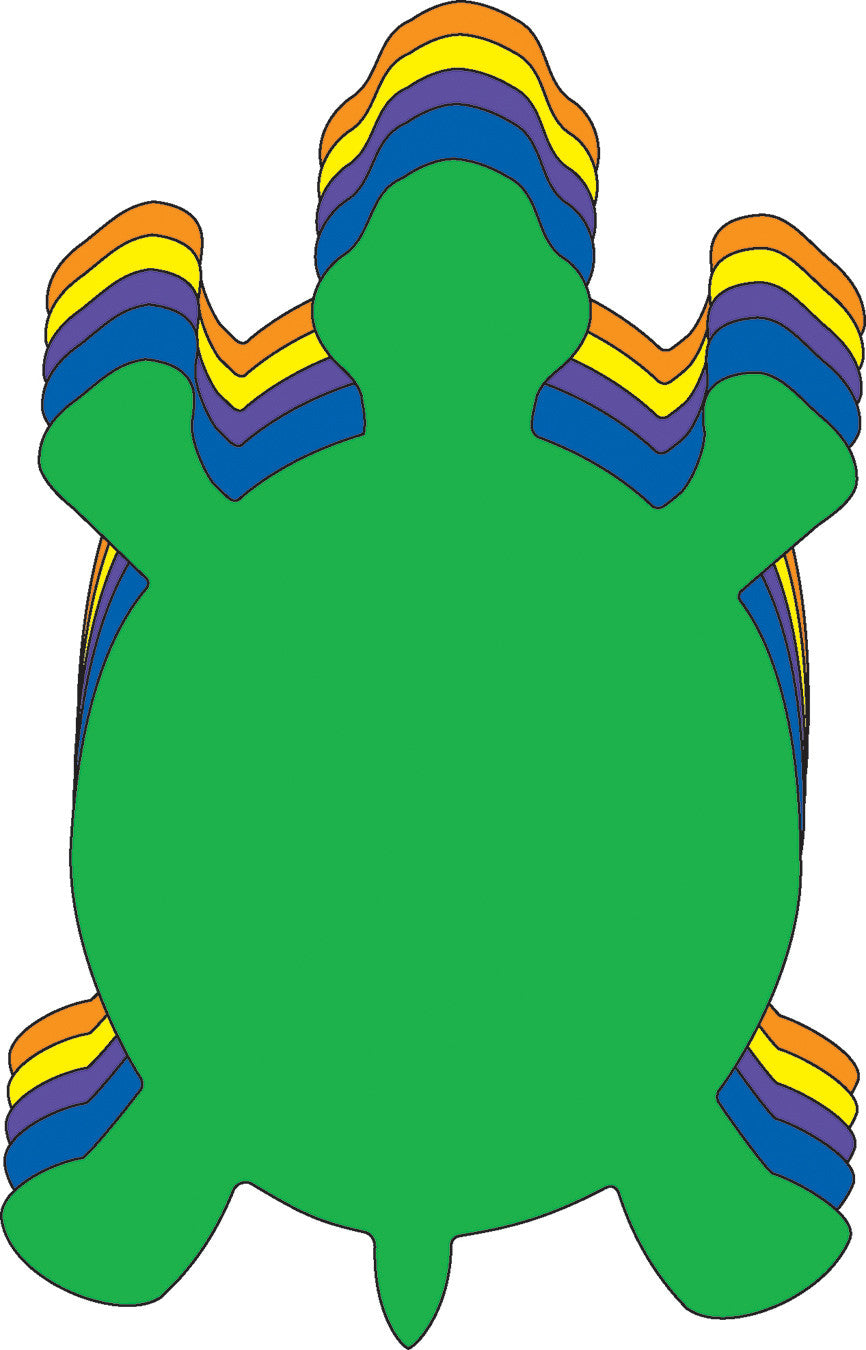 Large Assorted Color Creative Foam Cut-Outs - Turtle - Creative Shapes Etc.