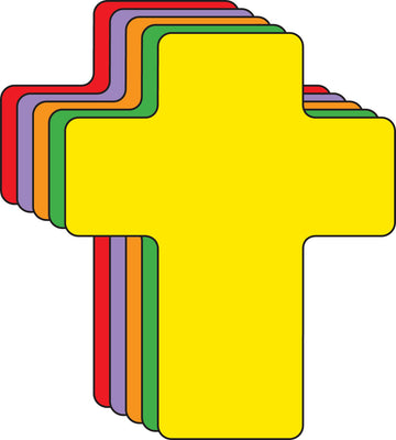 Cross Assorted Color Creative Cut-Outs- 5.5
