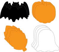 Small Cut-Out Set - Halloween