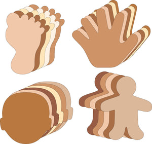 Small Cut-Out Set - Multicultural Body Parts - Creative Shapes Etc.