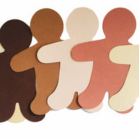 "Person Multicultural Creative Cut-Outs- 5.5"" - Creative Shapes Etc."
