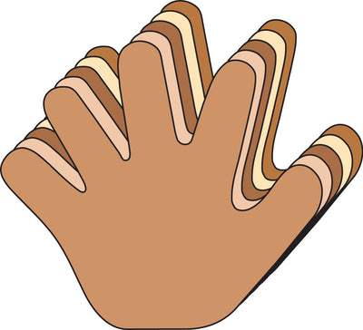 Large Multicultural Cut-Out - Hand