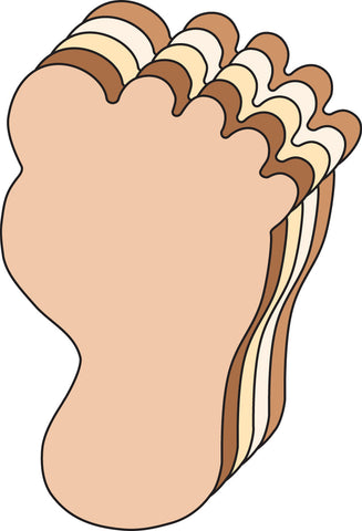 Picture of Large Multicultural Cut-Out - Foot