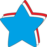 Large Tri Color Creative Foam Cut-Outs - Star