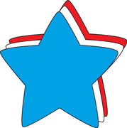 Large Tri Color Cut-Out - Star