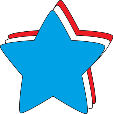 "5.5"" Star Tri-Color Creative Cut-Outs"