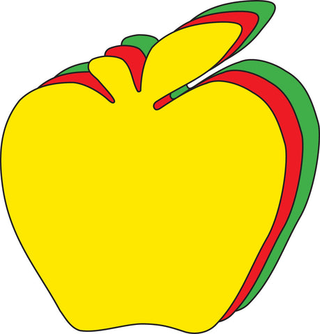 Picture of Large Tri Color Cut-Out - Apple