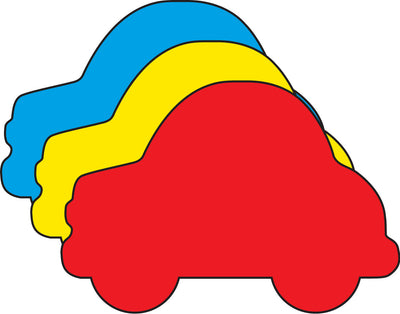 Large Tri Color Creative Foam Cut-Outs - Car