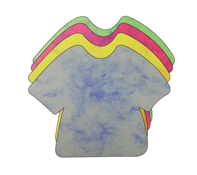 T-Shirt Marble Assorted Color Creative Cut-Outs- 5.75