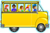 Large Notepad - Bus with Kids - Creative Shapes Etc.