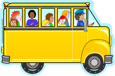 Large Notepad - Bus with Kids