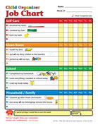Job Chart - Child Organizer - Creative Shapes Etc.