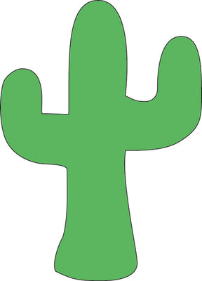 Sticky Shape Notepad - Cactus