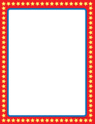 Designer Paper - Star Border (50 Sheet Package) - Creative Shapes Etc.