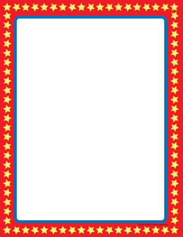 Picture of Designer Paper - Star Border (50 Sheet Package)
