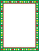 Designer Paper - Apple Border (50 Sheet Package) - Creative Shapes Etc.