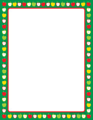 Designer Paper - Apple Border (50 Sheet Package)