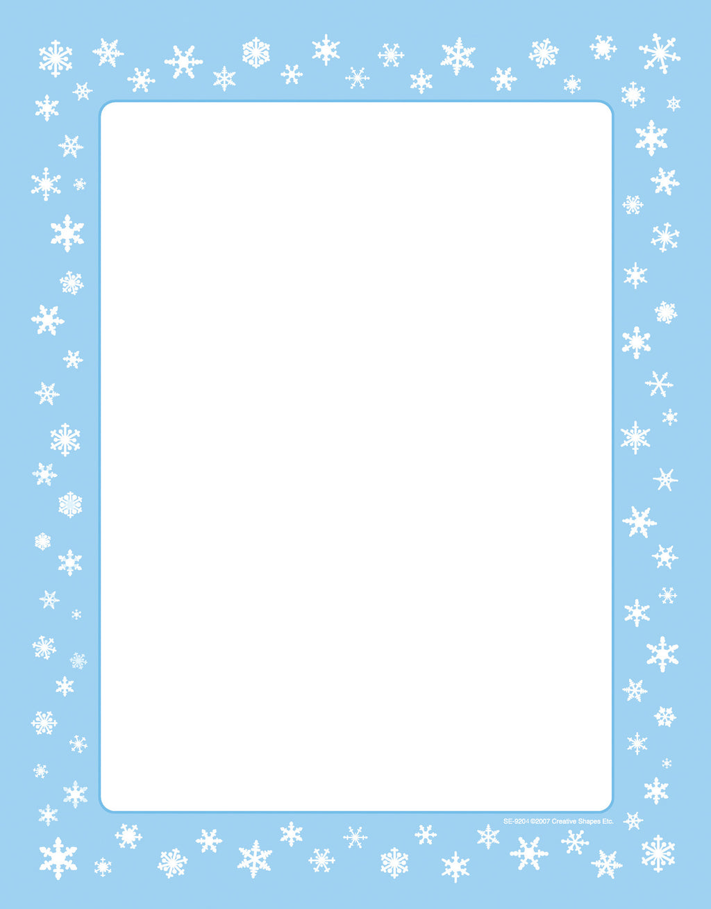 Designer Paper - Snowflakes (50 Sheet Package) - Creative Shapes Etc.