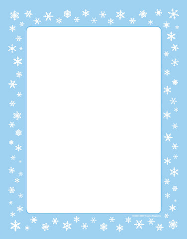 Picture of Designer Paper - Snowflakes (50 Sheet Package)