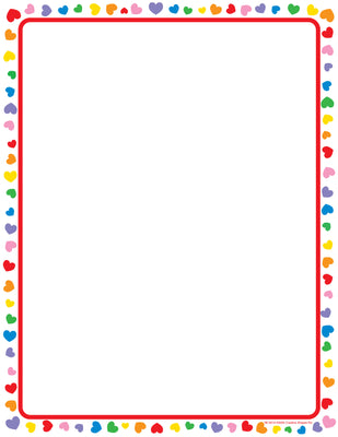 Designer Paper - Heart (50 Sheet Package) - Creative Shapes Etc.