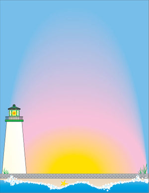 Designer Paper - Lighthouse (50 Sheet Package) - Creative Shapes Etc.