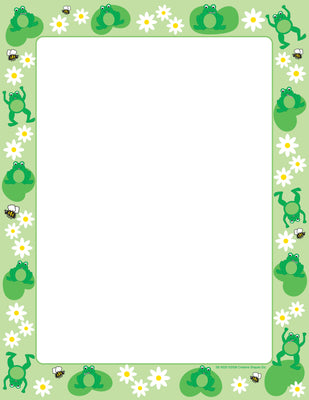 Designer Paper - Frog (50 Sheet Package) - Creative Shapes Etc.