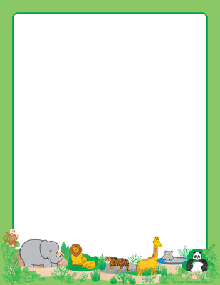 Designer Paper - Zoo (50 Sheet Package) - Creative Shapes Etc.