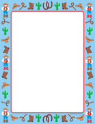 Designer Paper - Western (50 Sheet Package) - Creative Shapes Etc.