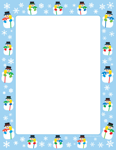 Picture of Designer Paper - Snowman (50 Sheet Package)