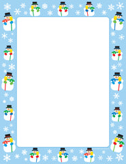 Designer Paper - Snowman (50 Sheet Package)