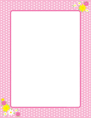 Designer Paper - Pink Polka Dots (50 Sheet Package)