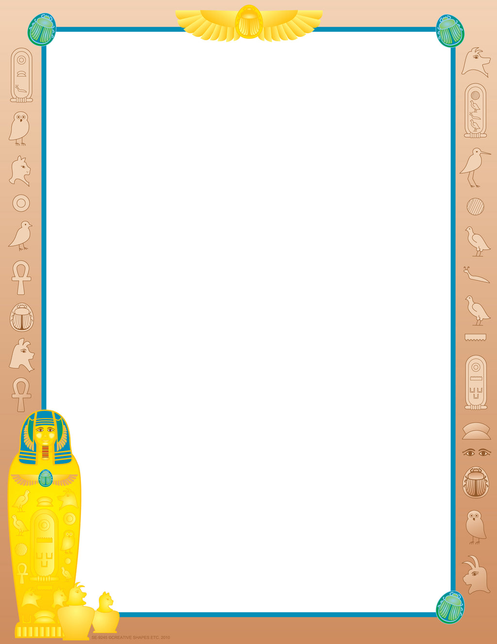 Designer Paper - Egyptian (50 Sheet Package) - Creative Shapes Etc.