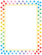 Designer Paper - Paw Print (50 Sheet Package) - Creative Shapes Etc.