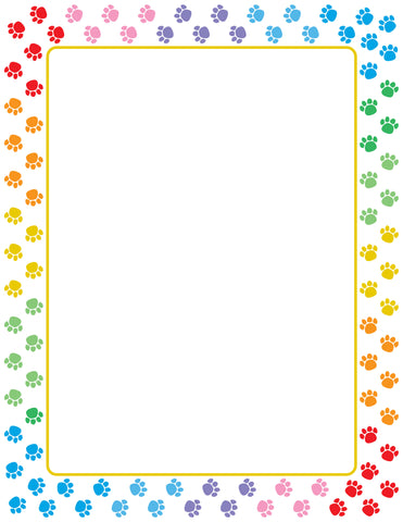 Picture of Designer Paper - Paw Print (50 Sheet Package)