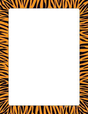 Designer Paper - Tiger (50 Sheet Package) - Creative Shapes Etc.