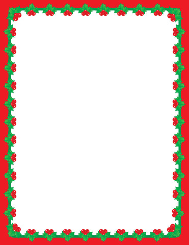 Picture of Designer Paper - Christmas Holly (50 Sheet Package)