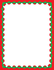 Designer Paper - Christmas Holly (50 Sheet Package)
