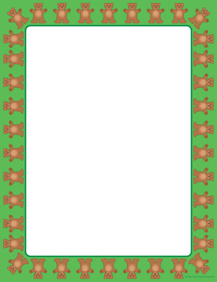 Designer Paper - Teddy Bear (50 Sheet Package) - Creative Shapes Etc.