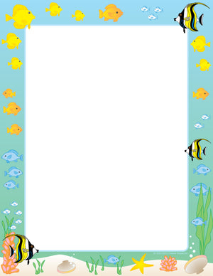 Designer Paper - Tropical Fish (50 Sheet Package) - Creative Shapes Etc.