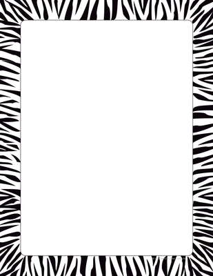 Designer Paper - Zebra Border (50 Sheet Package) - Creative Shapes Etc.