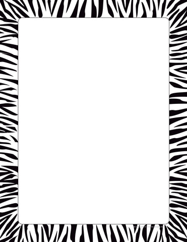 Picture of Designer Paper - Zebra Border (50 Sheet Package)