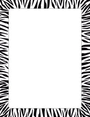 Designer Paper - Zebra Border (50 Sheet Package)
