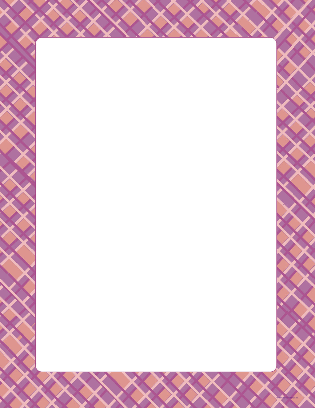 Designer Paper - Pink Plaid (50 Sheet Package) - Creative Shapes Etc.