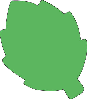 Sticky Shape Notepad - Green Leaf - Creative Shapes Etc.