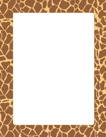 Picture of Designer Paper - Giraffe (50 Sheet Package)