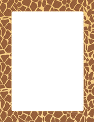 Designer Paper - Giraffe (50 Sheet Package)