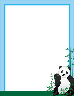 Designer Paper - Panda (50 Sheet Package) - Creative Shapes Etc.