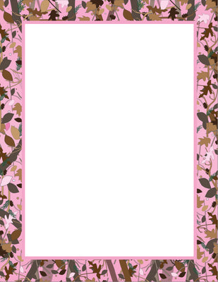 Designer Paper - Pink Camo (50 Sheet Package) - Creative Shapes Etc.
