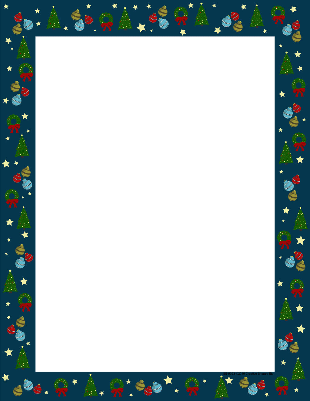 Designer Paper - Christmas Wrap (50 Sheet Package) - Creative Shapes Etc.