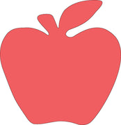 Sticky Shape Notepad - Red Apple